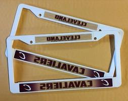 2 CLEVELAND CAVALIERS White License Plate Frame NEW Auto Tru