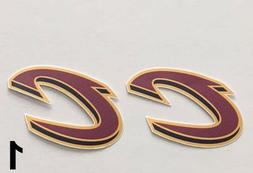 2x cleveland cavaliers car bumper laptop wall