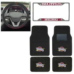 6pc NBA Cleveland Cavaliers Floor Mats Steering Wheel Cover