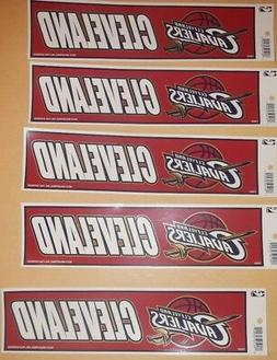"""Cleveland Cavaliers 11"""" BY 3 """" NHL BUMPER STICKERS"""