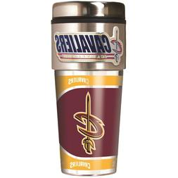 CLEVELAND CAVALIERS 16 OZ STAINLESS STEEL COFFEE TRAVEL MUG