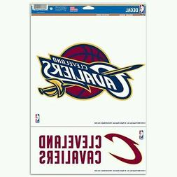 """CLEVELAND CAVALIERS 2 PIECE MULTI-USE DECALS 11""""x17"""" PERFECT"""