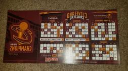 Cleveland Cavaliers 2016-2017 Season Magnet schedule and  Ca