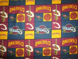 CLEVELAND CAVALIERS BLUE NBA LICENSED QUILTING COTTON FABRIC