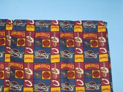 CLEVELAND CAVALIERS Burgundy Yellow NBA Handmade  Cotton Win