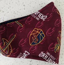 Cleveland Cavaliers Fabric Face Mask - Filter pocket, Cotton