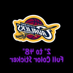 cleveland cavaliers full color vinyl decal hydroflask