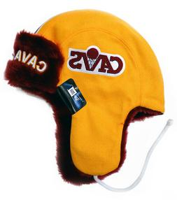 Cleveland Cavaliers New Era Helmet Head Knit Trapper, One Si