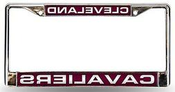 Cleveland Cavaliers LASER FRAME Chrome Metal License Plate C