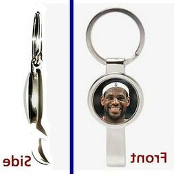 Cleveland Cavaliers LeBron James Pennant or Keychain silver