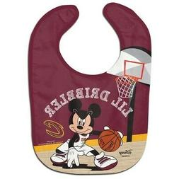 CLEVELAND CAVALIERS MICKEY MOUSE BABY BIB DISNEY NBA OFFICIA