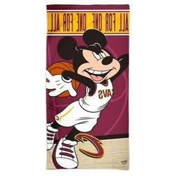 "CLEVELAND CAVALIERS MICKEY MOUSE SPECTRA BEACH TOWEL 30""X60"""