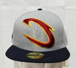 CLEVELAND CAVALIERS~NBA~NEW ERA~59FIFTY~GRAY WITH BLACK VISO