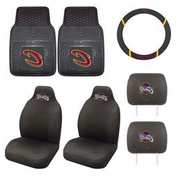 Cleveland Cavaliers Seat Covers Set with Rubber Floor Mats &