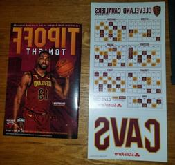 Cleveland Cavaliers SGA 2017-2018 Magnet Schedule And Car Ma