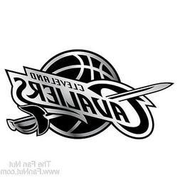 Cleveland Cavaliers Silver Chrome Colored Raised 3D Auto Emb