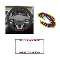 Cleveland Cavaliers Steering Wheel Cover, License Plate Fram