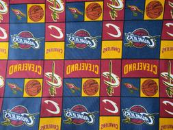 CLEVELAND CAVALIERS THEMED - NBA - 100% COTTON FABRIC