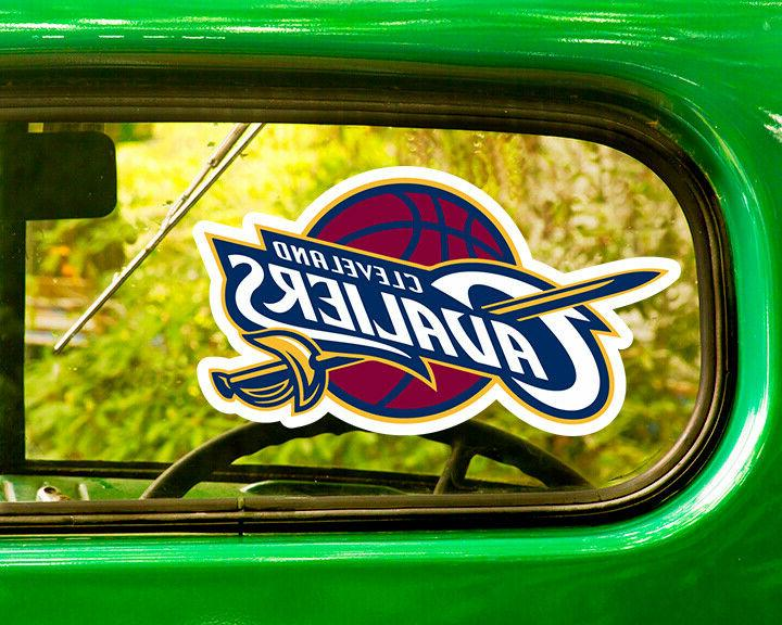 2 cleveland cavaliers decal stickers bogo