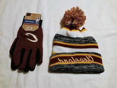 cleveland cavaliers gloves and team colored cuffed