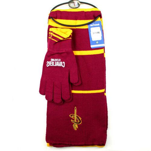 cleveland cavaliers nba scarf and gloves gift