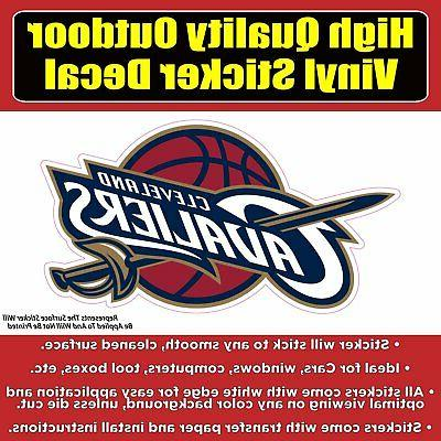 cleveland cavaliers vinyl bumper car window sticker