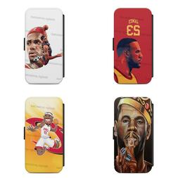 LEBRON JAMES 23 CLEVELAND CAVALIERS FLIP CASE COVER FOR iPHO