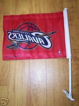 Lot of 2  CLEVELAND CAVALIERS  CAR TRUCK  FLAG TWO SIDE