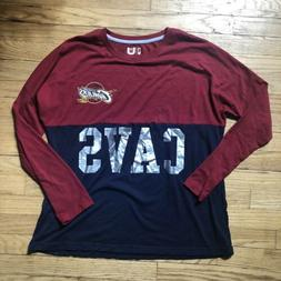 Mens NBA Cleveland Cavaliers Silver Cavs Logo Long Sleeve T
