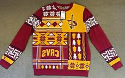 Mens NBA Cleveland Cavaliers Sweater Ugly Cavs Sweater Sz XL