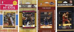 NBA Cleveland Cavaliers 4 Different Licensed Trading Card Te