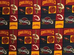 NBA CLEVELAND CAVALIERS Cotton Fabric 1/4 yard  - Patch