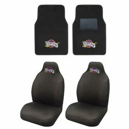 NBA Cleveland Cavaliers Seat Covers & Carpet Floor Mats 4PC