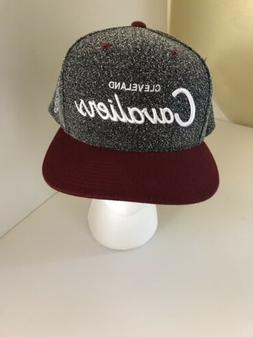 New Cleveland Cavaliers Mitchell Ness Ball Cap Hat Gray Twee